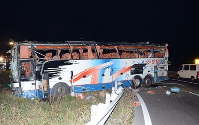В Австрії український автобус злетів у кювет: 11 людей постраждали