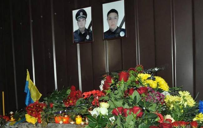 Фото: Место гибели полицейских (Facebook)