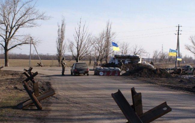 Фото: блокпост на Донбассе