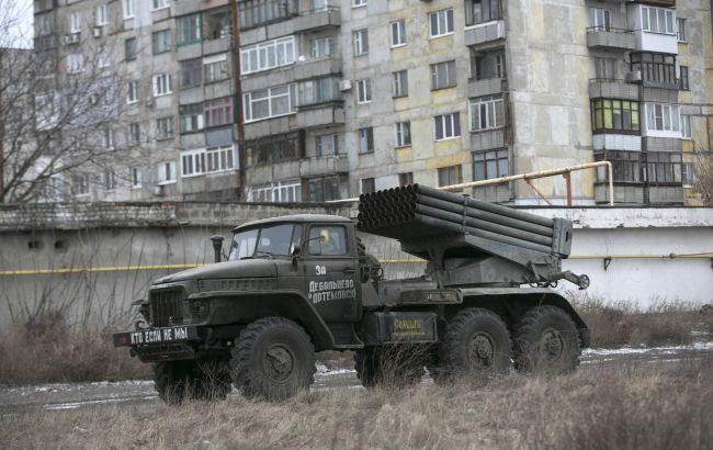 Боевики выпустили из«Града» 20 снарядов налуганском направлении