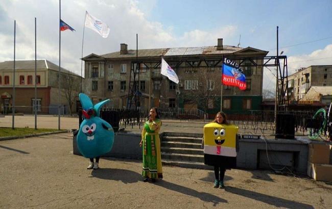 Фото: Праздник в Дебальцево (Facebook)