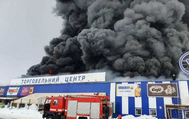 """У Первомайську локалізували пожежу в """"Епіцентрі"""""""