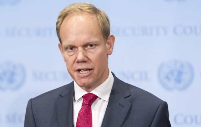Фото: представник Британії при ООН Метью Рикрофт