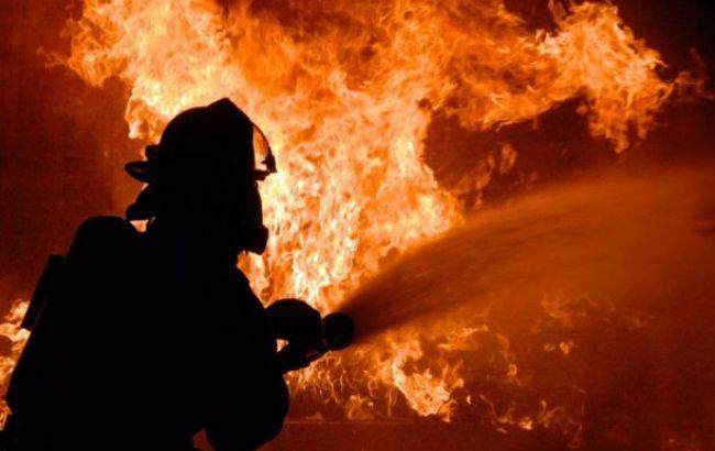 Фото: пожар в Запорожской области