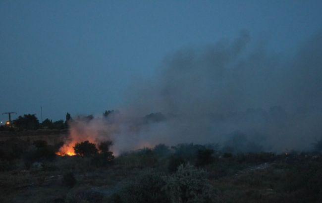 Фото: пожар на свалке под Николаевом