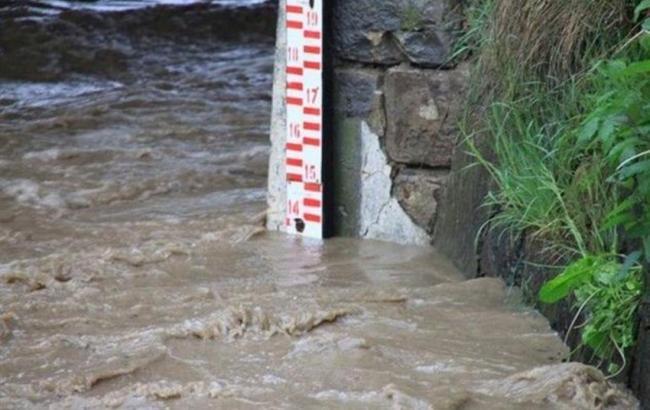 Фото: повышение уровня воды в реках на Закарпатье