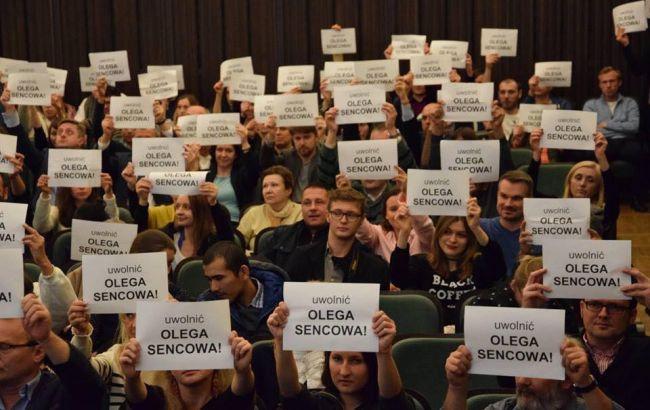 Фото: акция в поддержку Сенцова в Варшаве
