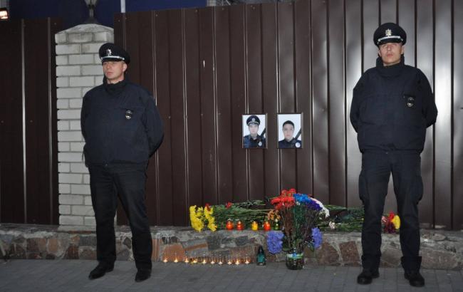 Фото: В Днепре прощались с убитыми полицейскими (facebook.com/dnipropolice)
