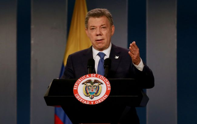 Фото: президент Колумбії Хуан Мануель Сантос