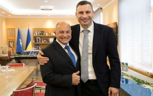 Фото: Віталій Кличко та Райнер Бомба