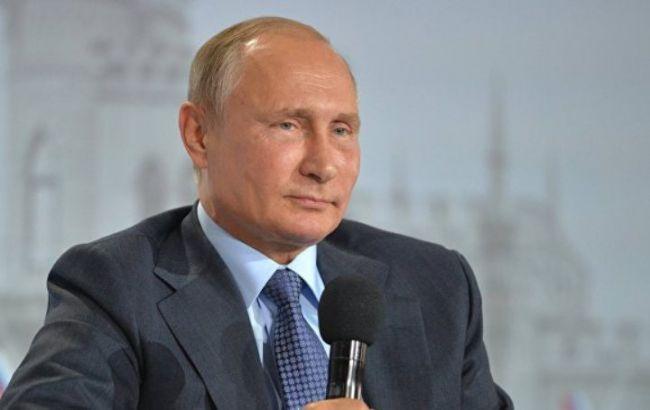 "Фото: Путин на заседании клуба ""Валдай"""