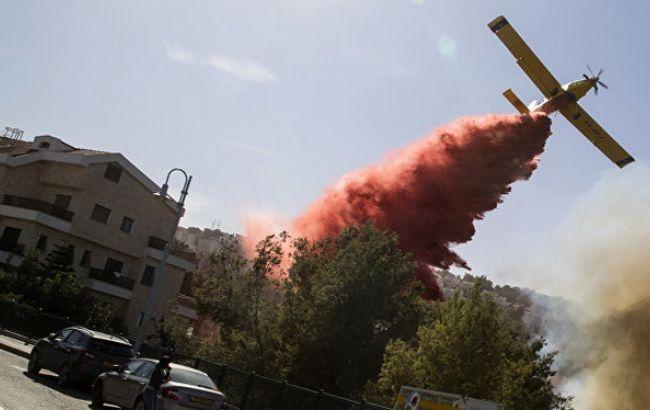 Фото: тушение пожаров в Израиле