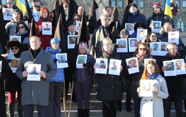 Фото: В Канаде сотоялся молебен по погибшим во время Революции достоинства