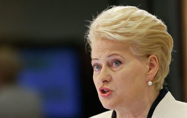 """Президент Литвы назвала Россию """"угрозой"""" для Европы"""