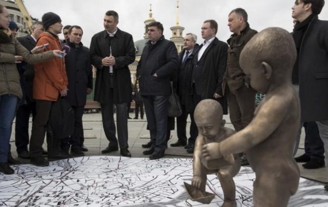 Кличко пообіцяв, що відреконструйована Поштова площа буде відкрита до Євробачення