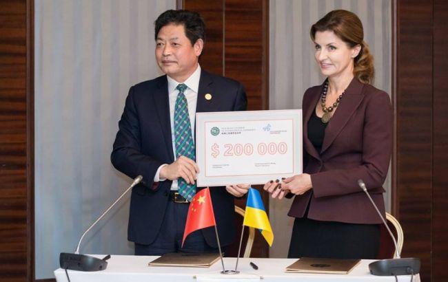 Фото: Марина Порошенко и Люй Цзяньчжун