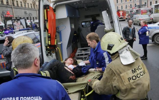 Фото: пострадавшие в результате теракта в метро