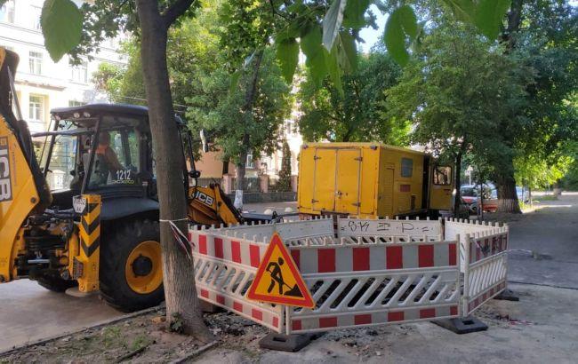 В Киеве во время испытаний прорвал трубопровод