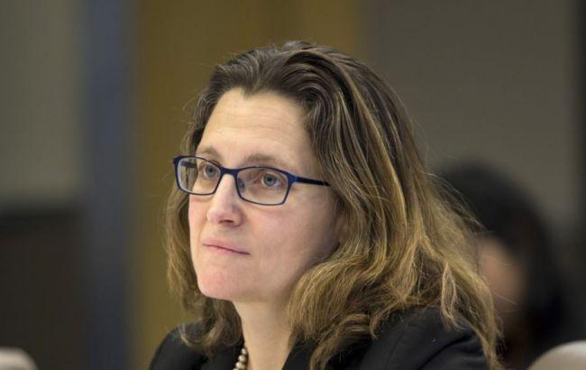 ВМИД Канады призвали давить наРФ санкциями зааннексию Крыма