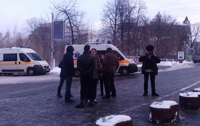 Фото: мітингувальники організовано розійшлися з акції протесту під НБУ