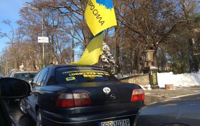 Фото: Автомобілі з іноземними номерами (facebook.com/iryna.gerashchenko)