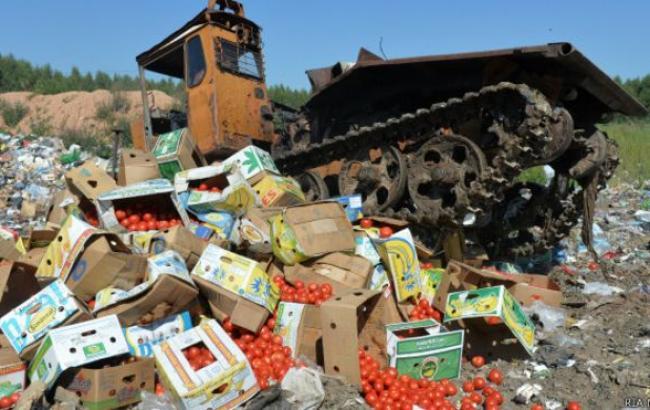 В России уничтожили уже 600 т санкционных товаров