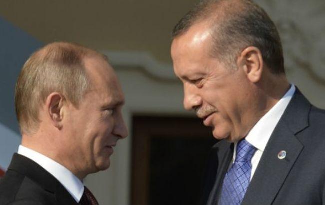 """Фото: Ердоган назвав Путіна """"своїм другом"""""""