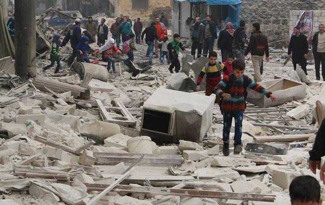 Фото: обстрел Алеппо