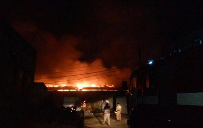 Фото: пожар под Киевом