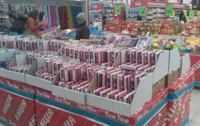Фото: Гірлянди у луцькому магазині (facebook.com)