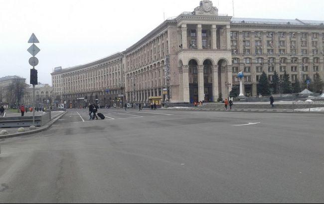 Фото: на День гідності і свободи перекрили Хрещатик