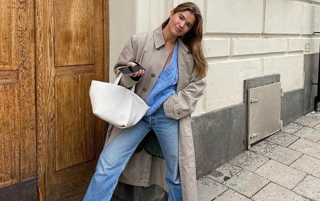 Помогут удлинить ноги: стилист показала, как носить джинсы-трубы в осенне-зимнем сезоне