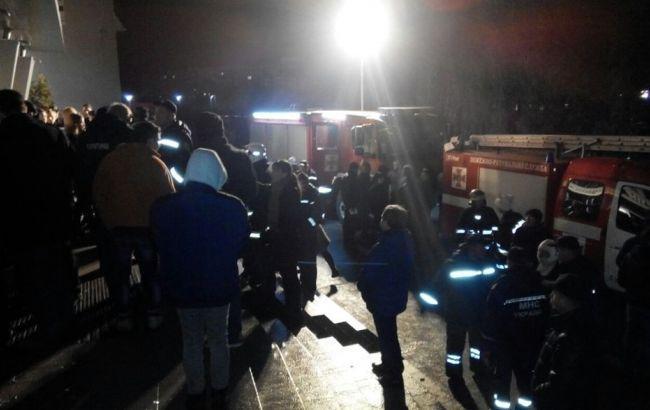 Фото: пожар в ночном клубе Львова