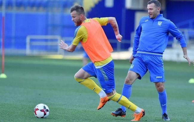 Фото: Андрей Ярмоленко и Андрей Шевченко (ffu.ua)