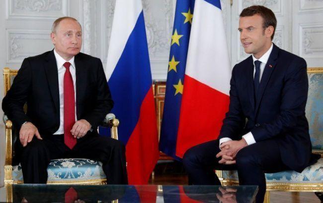 Макрон і Путін обговорять питання безпеки в Україні