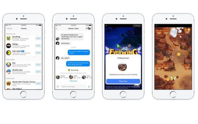 Фото: Facebook запустил игровую платформу в Messenger
