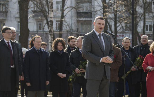 Кличко открыл в Киеве сквер имени Немцова