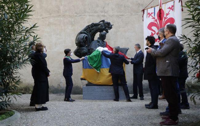 Кличко открыл во Флоренции памятник Тарасу Шевченко