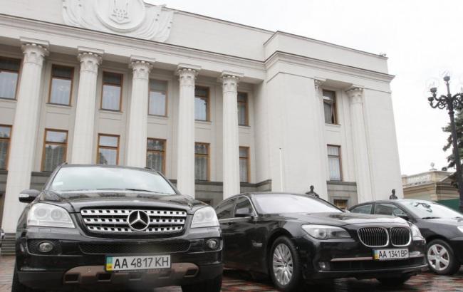 Фото: депутаты ВР задекларировали 1 тыс. транспортных средств в 2015