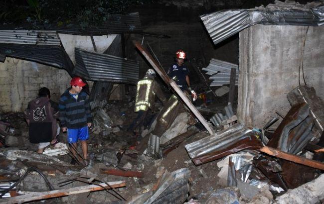 Фото: в Гватемале произошел  оползень