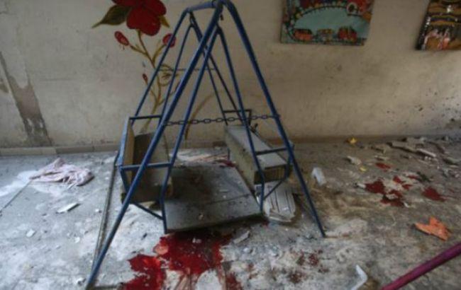 Фото: армия обстреляла детский сад