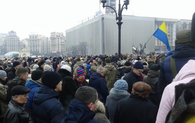 Фото: акция в честь военных, погибших в ходе обстрела Авдеевки