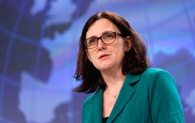 Фото: комиссар Европейского Союза по вопросам торговли Сесилия Мальмстрем