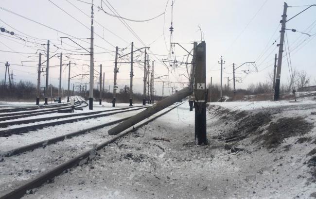 В результате обстрела Авдеевки повреждена ж/д станция