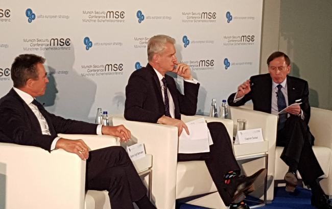 Фото: украинский ланч на Мюнхенской конференции-2017
