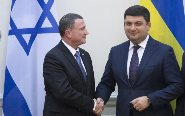 Фото: Беньямин Нетаньяху и Владимир Гройсман