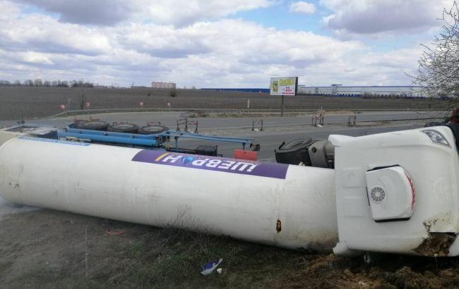 Под Киевом перевернулась цистерна с жидким кислородом. Движение ограничено