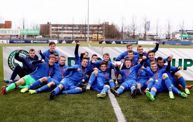 Сборная Украины U-18 выиграла Кубок Федерации вЛатвии