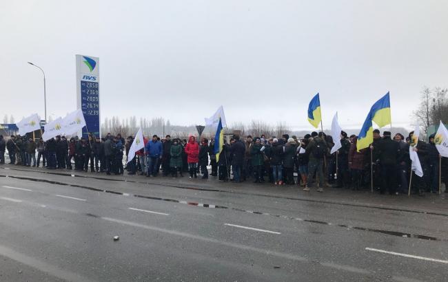 Фото: всеукраинская акция аграриев (unn.com.ua)