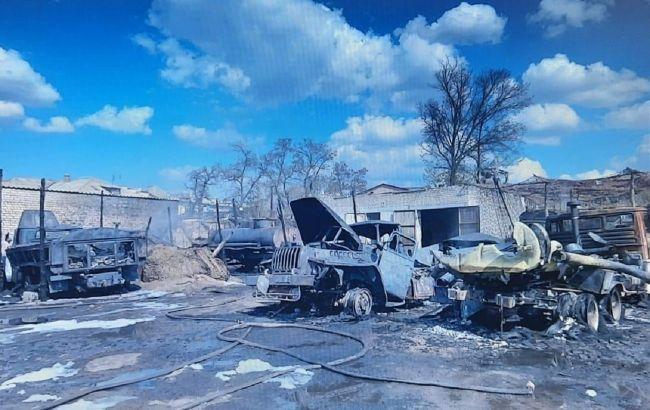 В результате пожара на воинской части в Рубежном пострадал военный